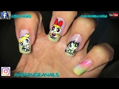 Decorados de uñas - decorado de uñas chicas super poderosas