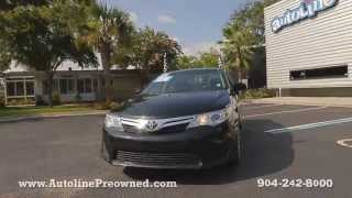 Autoline Preowned 2012 Toyota Camry LE For Sale Used Walk Around Review Test Drive Jacksonville