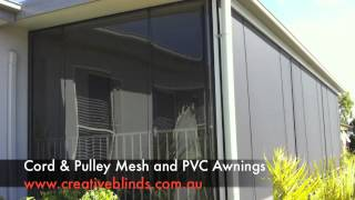 Clear PVC Cord Pulley Awnings