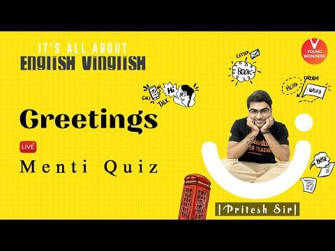 Greetings | English Vocabulary | Vedantu Class 6 - 8 | Young Wonders | Pritesh Sir