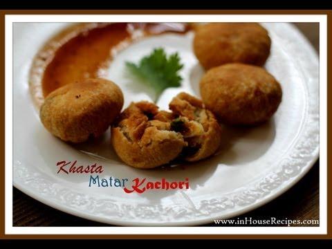 Dry Khasta Matar (peas) Kachori Hindi With Eng Subtitles