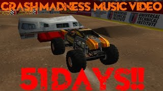 Rigs of Rods Monster Jam Monster Trucks Crash Madness Music Video: 51 Days!!