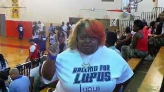 Ms. Juicy serves as a celebrity coach at the Balling For Lupus First Annual Charity Female Celebrity Basketball Game