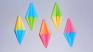 Оригами Бриллиант из бумаги