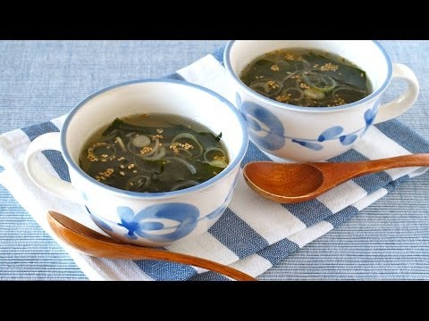 How to Make Fresh Wakame Seaweed Soup (Recipe) 生わかめスープの作り方 (レシピ)