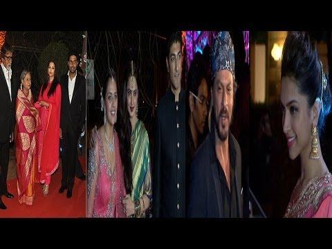 Amitabh,Rekha,Shahrukh & Other Celebs At Ahana Deol Wedding Reception