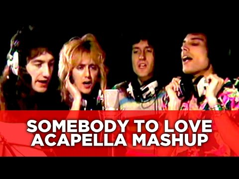 "freddie & queen ""a capella"" with amazing lives mashed up"