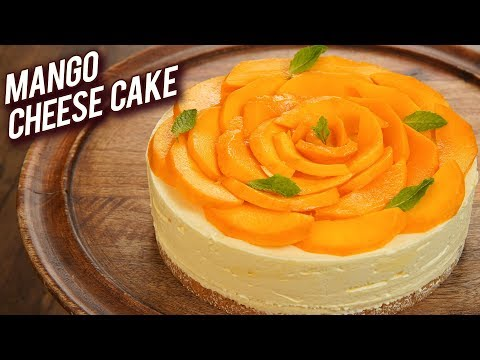 Mango Cheesecake Recipe – Summer Special Dessert – Eggless Mango Cake Recipe – Bhumika
