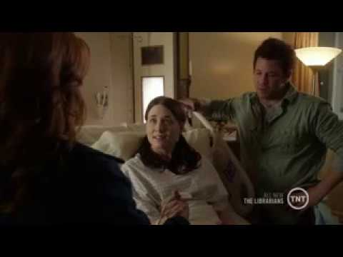 The Librarians Season 1x06 - Cassandra and Jacob with Little Red Riding Hood