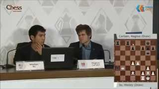 GM Wesley So analyzes game vs GM Magnus Carlsen - Shamkir Chess Tournament 2015