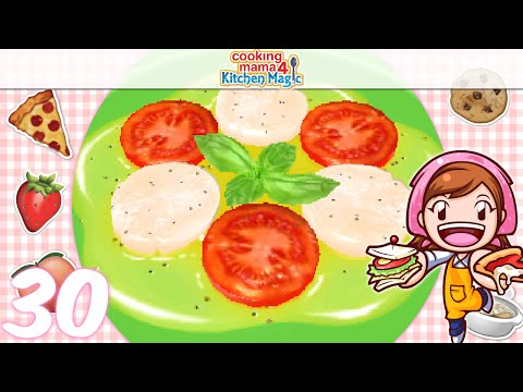 [Let's Play] Cooking Mama 4 Kitchen Magic - EP30: Scallop Carpaccio (*^▽^)/