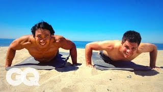 How to Get The Perfect Beach Body Six Pack Abs - GQ's Fighting Weight Series - YouTube
