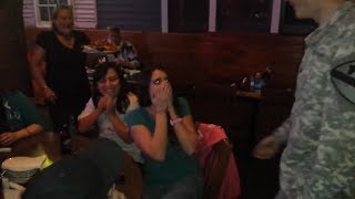 Surprise! Army Brother Reunites with Sister at Dinner