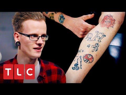 Frases de amigos - Chico pide a sus amigos tatuar su pierna  Retatuadores  Discovery H&H