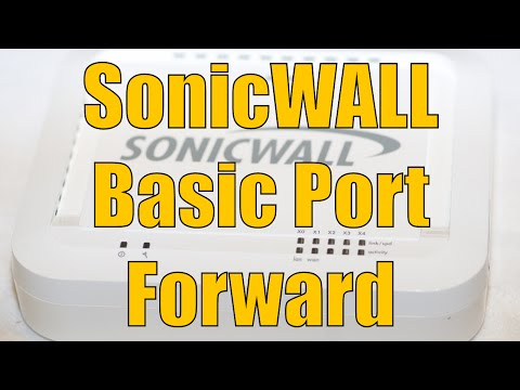 port forward - Dell SonicWALL Basic Port Forward. This video takes a look at creating custom service objects and service groups to configure a port forward in a Dell SonicW...