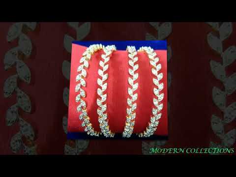 Video latest Gold With Stone Bangle Designs || Traditional Bridal bangles download in MP3, 3GP, MP4, WEBM, AVI, FLV January 2017