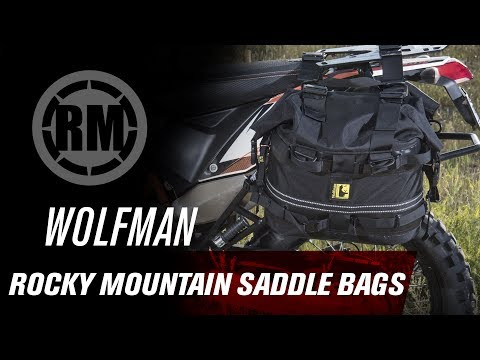Wolfman Luggage | Rocky Mountain Saddle Bags (видео)