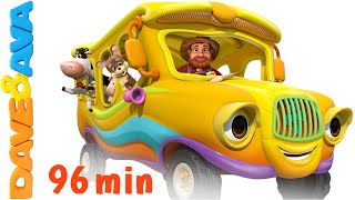 Video The Wheels on the Bus - Animal Sounds Song | Nursery Rhymes Compilation from Dave and Ava MP3, 3GP, MP4, WEBM, AVI, FLV Juli 2019