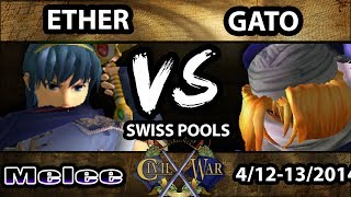 Hype set between Ether (Marth) Vs. Gato (Sheik) CW6 Pools