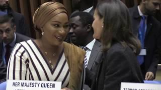 S.M. la Reina asiste a la I Conferencia Mundial de la OMS sobre contaminación del aire y salud