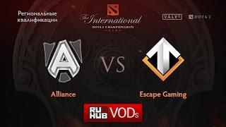 Alliance vs Escape, game 1