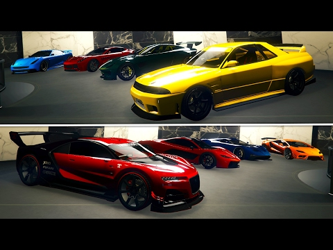 GTA Online: 60 CUSTOM CARS - 60 Car Office Garage Tour!