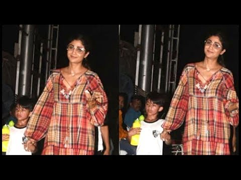 Shilpa Shetty Spotted With Son Viaan After His Foo