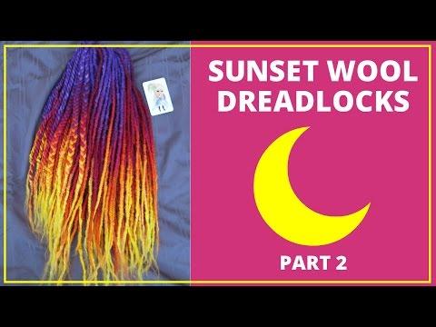 Sunset Wool Deadlock Tutorial: Part 2: Dyeing