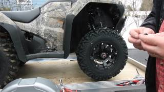 10. SEDONA RIPSAW R/T TIRES ON A 2015 HONDA RANCHER. WEIGHT TEST