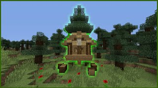 Minecraft Tutorial: How To Make A Starter Tree House (Biome House)