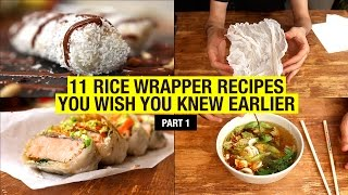 11 Recipes That Use Rice Paper Way Beyond Spring Rolls (part 1) by Alex French Guy Cooking
