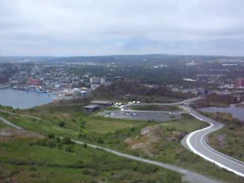 View from the Cabot Tower on Signal Hill