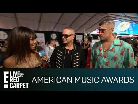 J Balvin & Bad Bunny Talk Teaming Up With Cardi B | E! Red Carpet & Award Shows