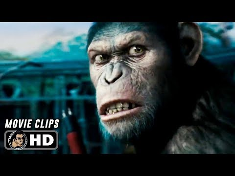 RISE OF THE PLANET OF THE APES Clips + Trailer (2011) Andy Serkis