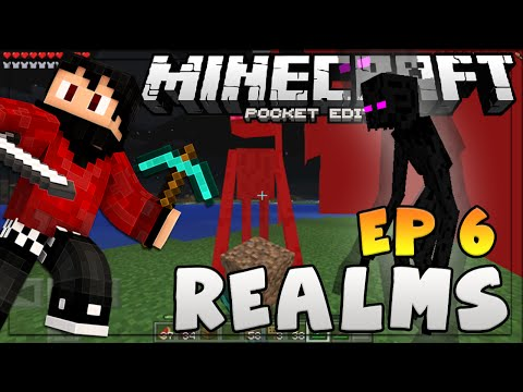 """Crazy Enderman Glitch!"" Minecraft PE - Realms Multiplayer SMP - Ep. 6"