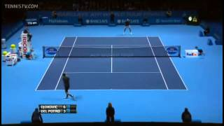 Tennis Highlights, Video - Novak Djokovic Vs Del Potro Barclays ATP World Tour Finals 2013 Group B Full Match