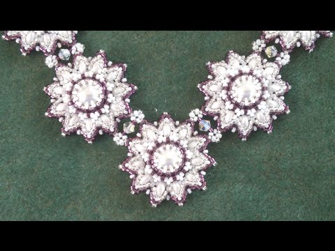 Beading4perfectionists : Pearl - Superduo necklace: putting parts together beading tutorial