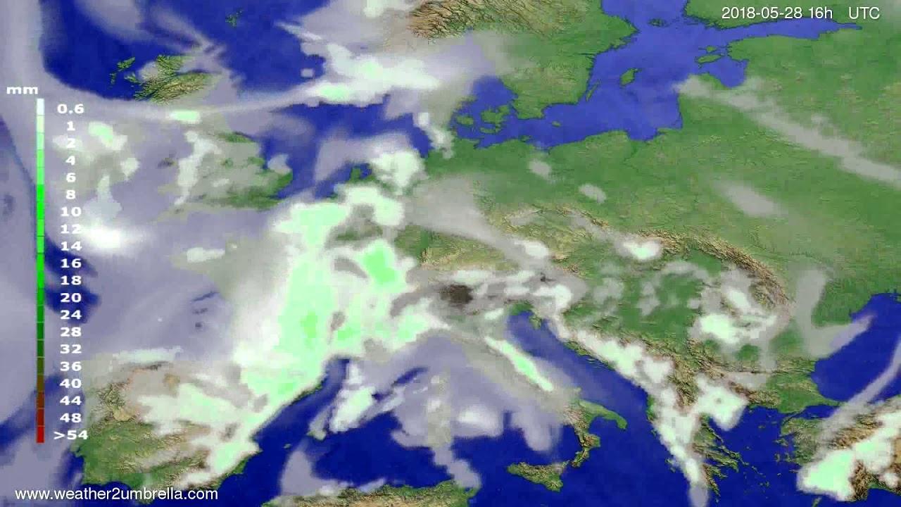 Precipitation forecast Europe 2018-05-25