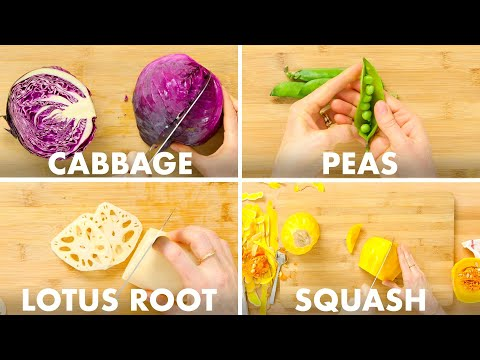 Chef Teaches You to Slice Up 50+ Various Types of Veggies