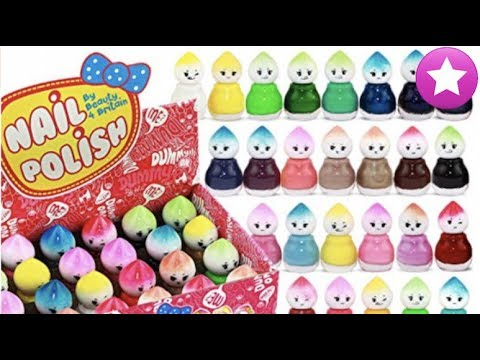 Videos de uñas - Abriendo 48 lacas de uñas de colores diferentes Juguetes y maquillaje para niñas