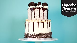 Behind the Scenes at Crumbs & Doilies: Double-stacked Cookie Dough Oreo Cake | Cupcake Jemma by Cupcake Jemma