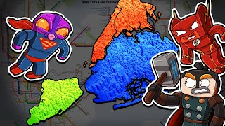 SUPERHEROES - New York City Map WARS! (Minecraft)