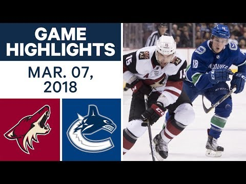 Video: NHL Game Highlights | Coyotes vs. Canucks - Mar. 07, 2018
