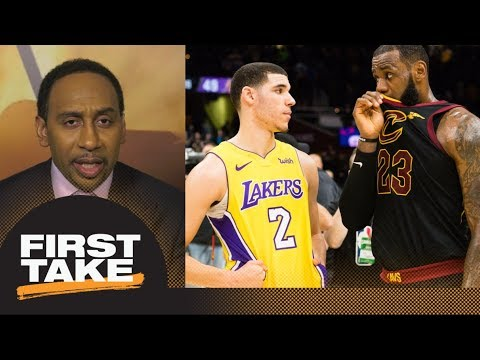 Stephen A. speculates what LeBron James told Lonzo Ball after Lakers-Cavaliers  First Take  ESPN