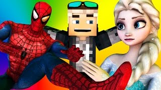 Frozen ELSA and SPIDERMAN IN MINECRAFT! Portal of Change [3D Minecraft Animation] Special thanks to Toy Animate on this Collab! Subscribe to Toy Animate belo...