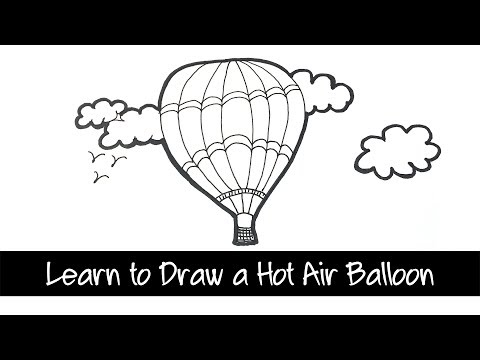 Learn to draw a Hot air balloon - easy drawing lesson