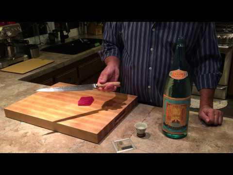 Slicing Sashimi with a Miyabi Blade