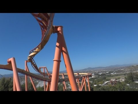 six flags magic mountain - Front Rider's Perspective on Tatsu (Bolliger & Mabillard: Flying Coaster) at Six Flags Magic Mountain in Valencia, California, USA. Length: 3602' Height: 170...