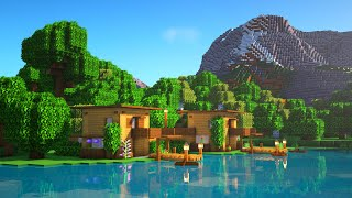 Minecraft: How to Build a Wooden House   Easy Survival House Tutorial (Village for 1-10 players)