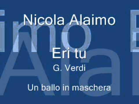 Nicola Alaimo G. Verdi Un ballo in maschera